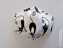 Rúška - Tvarované rúška na tvár - čierne mačky - 11972576_