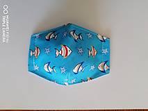 Rúška - Tvarované rúška na tvár - detské rybičky - 11972738_