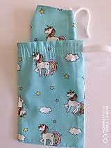 Rúška - EKO Detské vrecúško na rúška unicorn - 11972760_