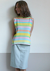 Tielka - pastelové tielko pásikové - 11972352_