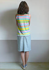 Tielka - pastelové tielko pásikové - 11972354_