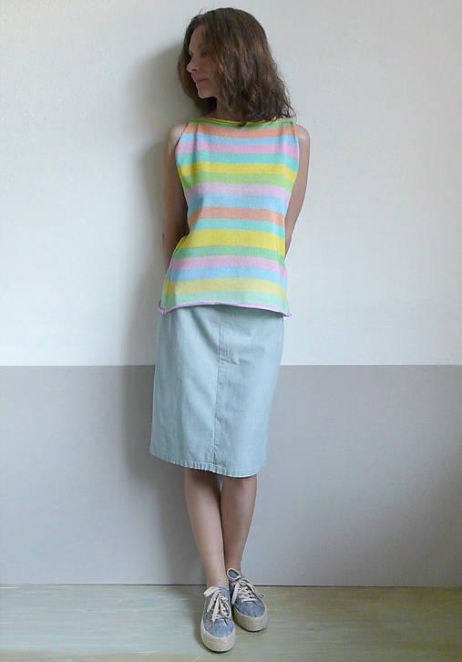 pastelové tielko pásikové