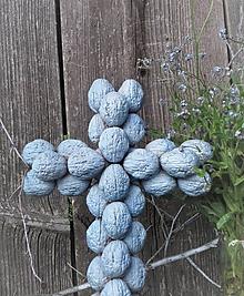 Dekorácie - Krížik - bledomodrý na chalupu - 11974997_