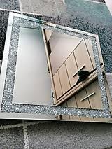 Zrkadlá - zrkadlo s kryštáľmi - 11974665_