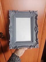Rámiky - Luxusný Stojaci alebo vysiaci siví rámik - 11975891_