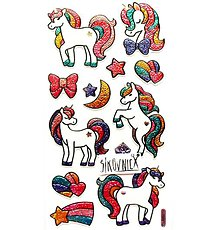 Papier - Samolepky, 3D, metalické, unicorn, jednorožec - 11975187_