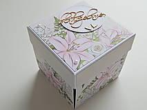 Papiernictvo - Darčeková krabička na peniaze - svadobná I - 11978088_