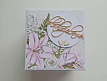 Papiernictvo - Darčeková krabička na peniaze - svadobná I - 11978089_