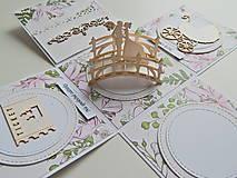 Papiernictvo - Darčeková krabička na peniaze - svadobná I - 11978090_