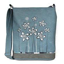 Veľké tašky - 1254 - modrobílá - 11976343_