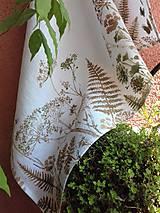 """Úžitkový textil - Ľanový maľovaný obrus """" Lúčne trávy """" - 11976175_"""