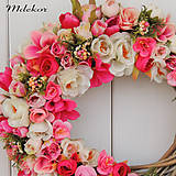 Dekorácie - Ružový veniec - 11975310_