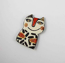 Odznaky/Brošne - TANA hand made jewellery - keramika/zlato - 11975468_