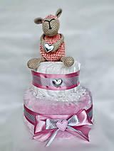 Detské doplnky - Plienková torta s ovečkou - 11976598_