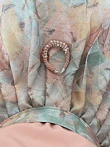 Náramky - Pudrový náramek pošitý perlami - 11977914_