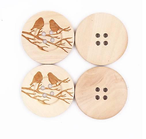 Maxi gombík vtáčiky 4 cm