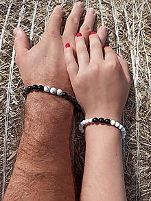 Náramky - Partnerské náramky Ónyx a Magnezit - 11976101_