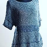 Topy - Oversized letný bavlnený top - 11977377_