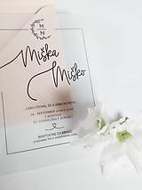 """Papiernictvo - Svadobné oznámenie """"SILKY"""" - 11976421_"""