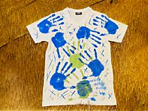 Tričká - Ručne kreslené originálne ART tričko na značkovom materiály - 11974675_