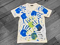 Tričká - Ručne kreslené originálne ART tričko na značkovom materiály - 11974676_