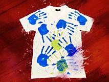 Tričká - Ručne kreslené originálne ART tričko na značkovom materiály - 11974678_
