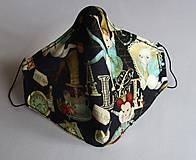 Rúška - Ochranné rúško 3-vrstvové - Alica v krajine zázrakov - 11977135_