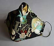 Rúška - Ochranné rúško 3-vrstvové - Alica v krajine zázrakov - 11977137_