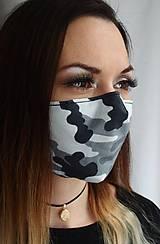 Letné rúško 2-vrstvové s drôtikom - maskáčové (jemná bavlna)