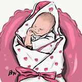 Grafika - Detský grafický portrét na objednávku - 11977081_