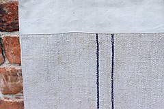 Veľké tašky - Ľanová taška s pásikmi - 11977876_