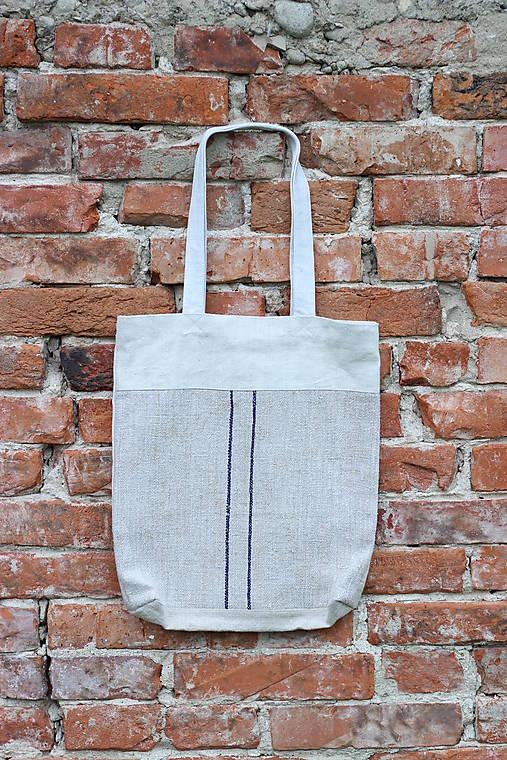 Ľanová taška s pásikmi