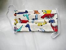 Rúška - Ochranné rúško detské - dvojvrstvové - skladom - 11977216_