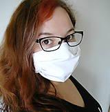 Rúška - Ochranné rúško na tvár s drôtikom - dvojvrstvové - skladom  - 11978063_