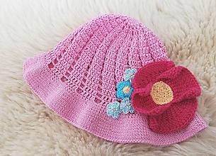 Detské čiapky - Ružový klobúčik - 11976016_
