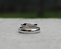 Prstene - Obrúčky s diamantmi biele - 11979051_