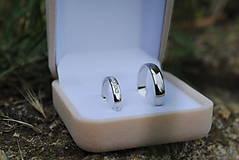 Prstene - Obrúčky s diamantmi biele - 11979054_