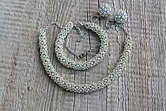 Sady šperkov - súprava strieborná - 11980978_