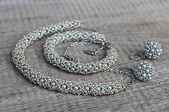 Sady šperkov - súprava strieborná (súprava PP strieborná) - 11980993_