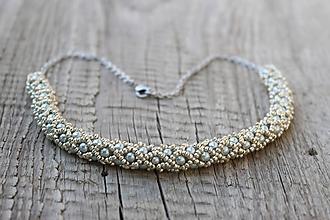 Sady šperkov - súprava strieborná (náhrdelník PP strieborný) - 11981041_