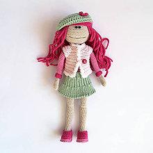 Hračky - Háčkovaná bábika vyzliekacia - Ružová rebelka   Ružová   Zelená   Béžová - 11981244_