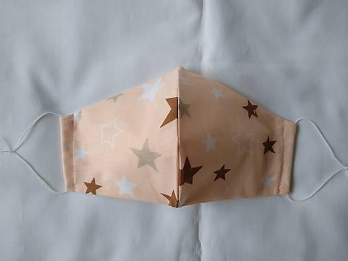 Dizajnové rúško hviezdy tvarované dvojvrstvové