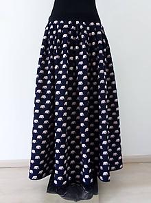 Sukne - Dlouhá nabíraná sukně SLONI, cca vel. 44 - 11980379_