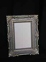 Rámiky - Sivo zlatý ramček - 11979393_