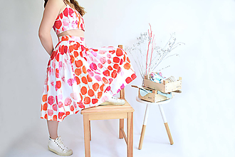 Sukne - Rozkvitnutá záhrada na sukni - 11980410_