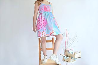 Šaty - Broskyňové sady na šatách - 11980802_