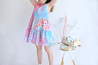 Šaty - Broskyňové sady na šatách - 11980936_