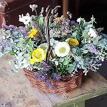 Dekorácie - Košík kvetov - 11982457_