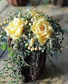 Dekorácie - Ruže v pníku - 11982501_