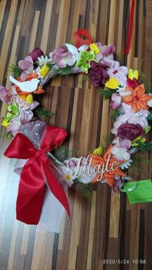 Dekorácie - Celoročný kvetový veniec - 11978986_